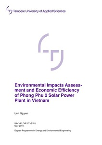 Environmental Impacts Assessment and Economic Efficiency of