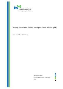 Security Issues of the Sandbox inside Java Virtual Machine (JVM)