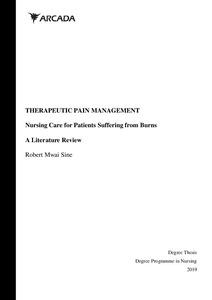 Therapeutic Pain Management: Nursing Care for Patients