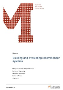 Building and evaluating recommender systems