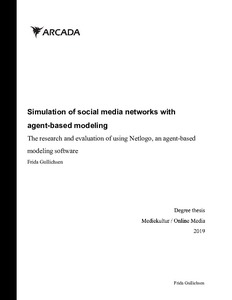Simulation of social media networks with agent-based modeling