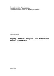 Loyalty Rewards Program >> Loyalty Rewards Program And Membership Holders Satisfaction