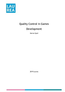 Quality Control in Games Development