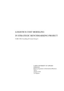 Logistics Cost Modeling in Strategic Benchmarking Project