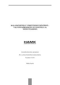 Kalankäsittely vähittäismyymälöissä -valvontaprojektin suunnittelu ja  toteuttaminen  051e44dac6