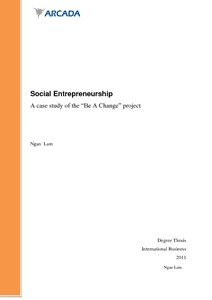 Social Entrepreneurship: A case study of the