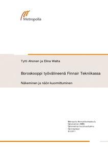 Boroskooppi työvälineenä Finnair Tekniikassa   näkeminen ja näön  kuormittuminen 411cacbebc