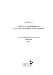 Sukupuolihormonien vaikutus neurofibroomakasvainten kehittymisessä  fbc5ae8505
