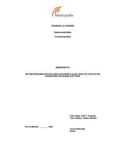Metropolia Ammattikorkeakoulu - Selaus asiasanan mukaan