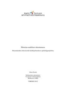 Teatteritaide taiteen perusopetuksessa (2005–2021)