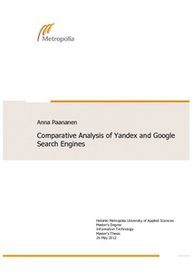 Comparative Analysis of Yandex and Google Search Engines