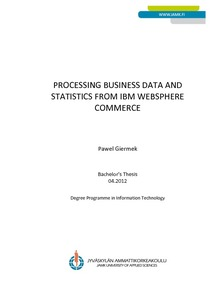 processing business data and statistics from ibm websphere commerce