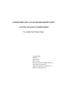 thesis on dalit of nepal Caste-based discrimination of dalit the study conducted by myself for the purpose  of writing a thesis on dalit the constitution of nepal has ensured the world map.