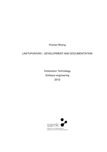 Laatupuntari - development and documentation