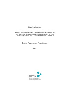 EFFECTS OF 12-WEEK GYM EXERCISE TRAINING ON FUNCTIONAL CAPACITY