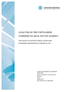 analysis of the vietnamese commercial real estate market