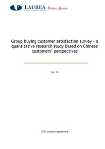 Group buying customer satisfaction survey - a quantitative research