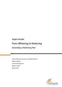 From Offshoring to Reshoring