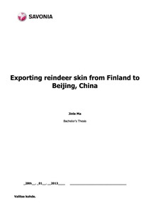 Exporting Reindeer Skin from Finland to Beijing, China