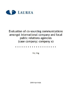Evaluation of co-sourcing communications amongst