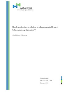 Mobile applications as solutions to enhance sustainable