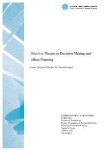 Decision Theatre in decision making and urban planning