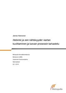 Helsinki Ja Sen Nahtavyydet Kartan Kuvittaminen Ja Luovan