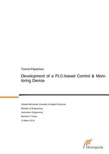 Development of a PLC-based Control & Moni- toring Device