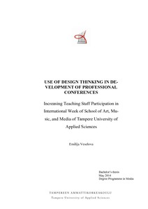 Use of Design Thinking in Development of Professional Conferences
