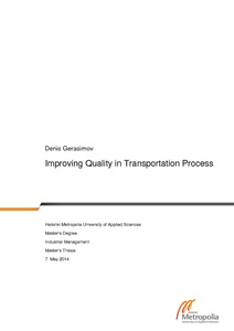 Improving quality in transportation process ccuart Choice Image