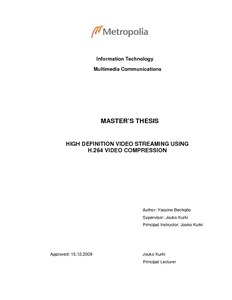 thesis on video compresion