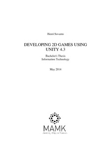 Developing 2D games using Unity 4 3