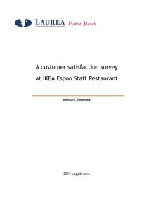 a customer satisfaction survey at ikea espoo staff restaurant