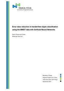Error rates reduction in handwritten digits classification