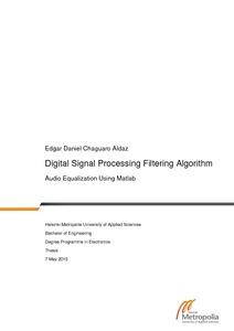 Digital Signal Processing Filtering Algorithm : Audio Equalization