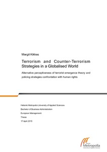 Terrorism and Counter-Terrorism Strategies in a Globalised World