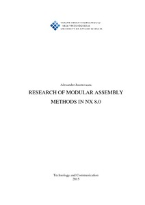 RESEARCH OF MODULAR ASSEMBLY METHODS IN NX 8 0
