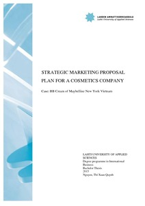 strategic marketing proposal plan for a cosmetics company