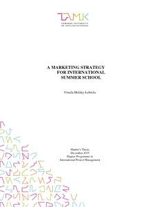 A Marketing Strategy for International Summer School